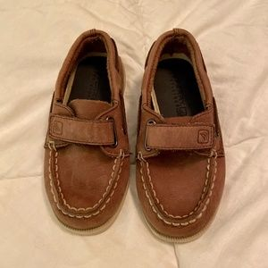 Sperry Leather Velcro Boat Shoes 8.5